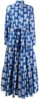 La DoubleJ Bellini pineapple print shirt dress