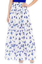 Belle Badgley Mischka Organza Poppy Floral Skirt