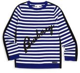 Burberry Little Girl's & Girl's Stripe Merino Wool & Cotton Logo Sweater