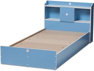 Baxton Studio Aeluin Blue Twin Bed Frame