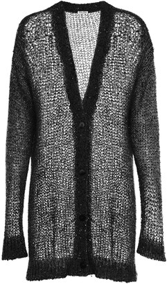Miu Miu Oversized Sequin-Embellished Cardigan