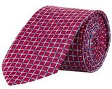 Burton Mens Red Geometric Grid Tie