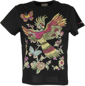RED Valentino T-shirt With Flowers And Parrot Print