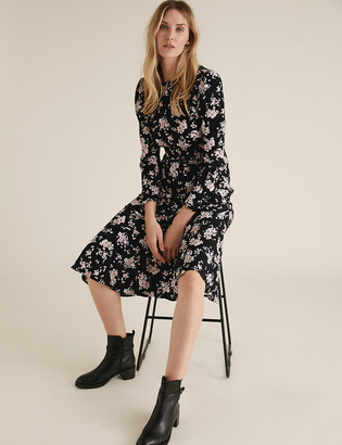 Marks and Spencer Floral Midi Skater Dress