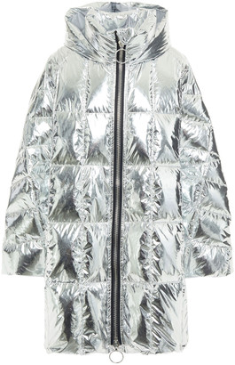 Ienki Ienki Cropped Pyramide Quilted Foiled Shell Hooded Down Coat