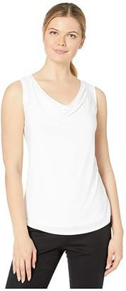 Nic+Zoe High Twist Drape Tank (Black Onyx) Women's Clothing
