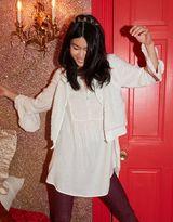 aerie Ruffle Shirt Dress