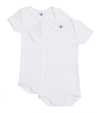 Petit Bateau Set Of 2 Cotton Bodysuits (1-36 Months)