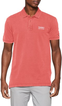 Tommy Jeans Men's Summer Pique Short Sleeve Polo Shirt