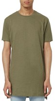Topman Men's Step Hem Longline Crewneck T-Shirt