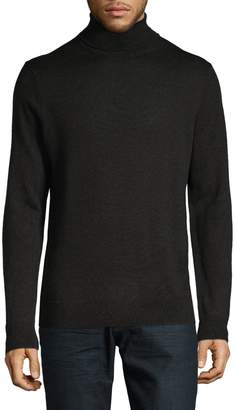 Black Brown 1826 Merino Wool Knitted Turtleneck
