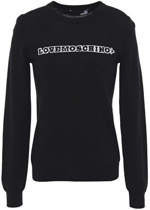 Love Moschino Intarsia Wool Sweater