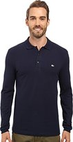 Lacoste Men's Long Sleeve Stretch Grey Croc Pique Polo