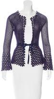 Moschino Cheap & Chic Moschino Cheap and Chic Virgin Wool Open Knit Cardigan