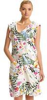 Floral Arrow-Seamed Dress