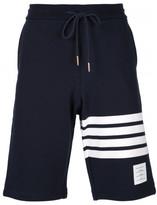 Thom Browne striped detail track shorts