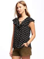 Old Navy Relaxed Ruffle-Trim Blouse for Women