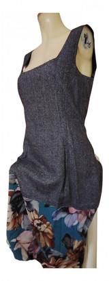 Dolce & Gabbana Grey Wool Dresses
