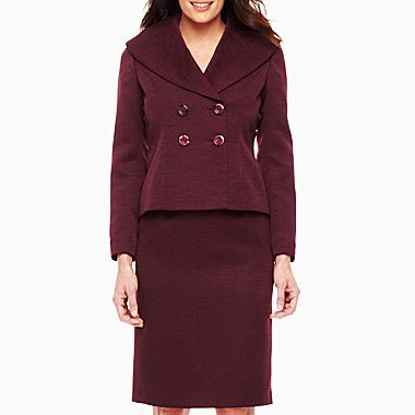 JCPenney J.Rose® Portrait Collar Double-Breasted Skirt Suit