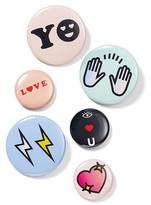 Bing Bang NYC Love Emoji Pins, Set of 6