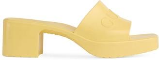 Gucci Women's rubber slide sandal
