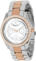 Kenneth Cole New York Women's KC4905 Transparency Two-Tone Yellow Rose Gold Bracelet Watch