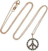 Ileana Makri Peace 18-karat rose gold diamond necklace