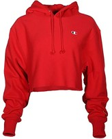 Champion Life Champion LIFE Reverse Weave(r) Cropped Cut Off Pullover Hoodie (Scarlet) Women's Clothing