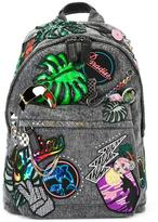 Marc Jacobs Paradise Biker backpack - women - Cotton/Calf Leather/Leather/glass - One Size