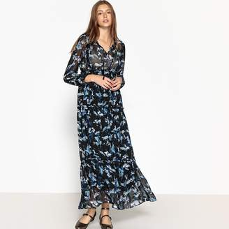 Suncoo Flared Floral Print Maxi Dress