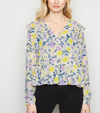 New Look JDY Floral Frill Shirt