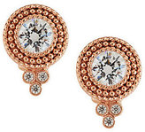 Judith Ripka Sterling & 14K Clad Diamonique Dew Drop Button Earrings