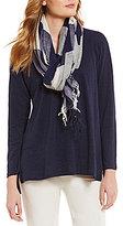 Eileen Fisher Handloomed Organic Cotton Linen Scarf
