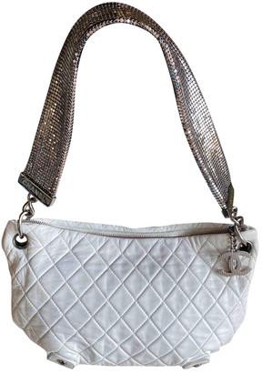 Chanel White Leather Handbags