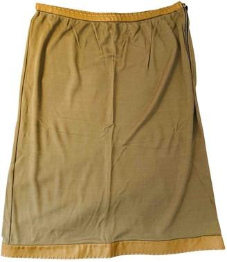 Fendi Beige Silk Skirt for Women Vintage