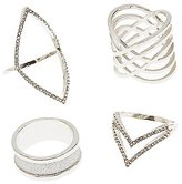 Charlotte Russe Embellished Caged Rings - 4 Pack
