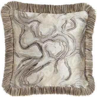 """Dian Austin Couture Home Driftwood Reversible Pillow, 18""""Sq."""