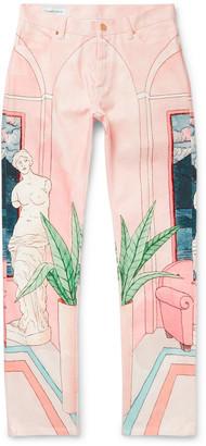 Casablanca Chambre Slim-Fit Printed Denim Jeans