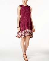 Style&Co. Style & Co Petite Mixed-Print Swing Dress, Created for Macy's