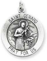 1928 Gold and Watches Sterling Silver Antiqued Saint Gerard Medal
