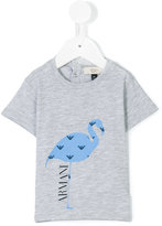 Armani Junior flamingo print T-shirt