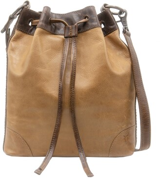 Frye Melissa Leather Drawstring Hobo Bag