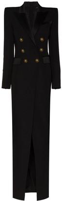 Balmain Button-Embellished Maxi Dress