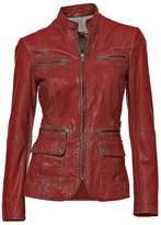 Heine Zip Detail Leather Biker Jacket