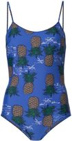 Sea pineapple print swimsuit - women - Nylon/Spandex/Elastane - XS