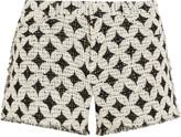 IRO Balm frayed cotton-blend bouclé shorts