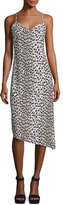Club Monaco Paz Sleeveless V-Neck Slim Printed Midi Dress