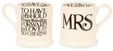 Emma Bridgewater Mrs and Mrs Half Pint Mugs