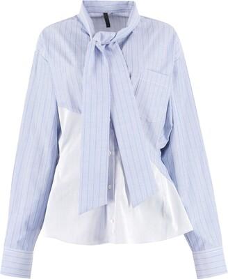 Taverniti So Ben Unravel Project Striped Stretch Cotton Shirt