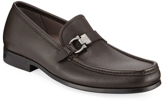 Salvatore Ferragamo Men's Adam Gancio Leather Loafers
